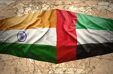 UAE and India flag