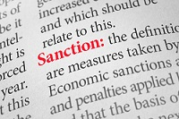 Sanction text and definition